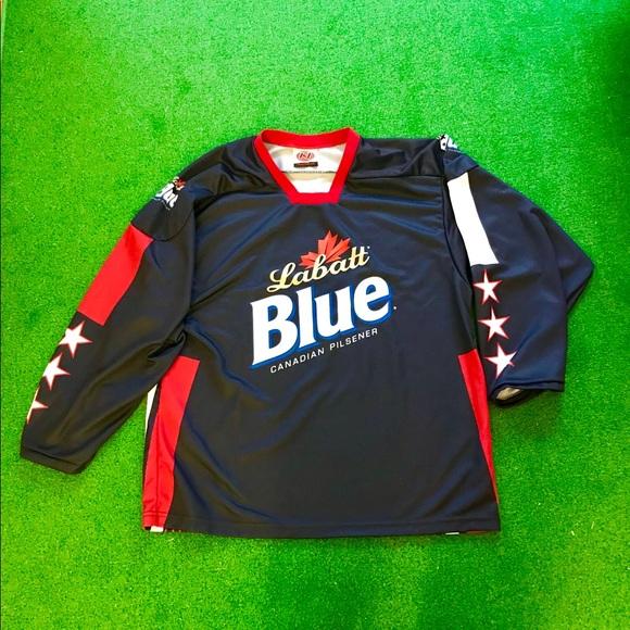 Labatt Blue Hockey Jersey. M 5aa00cb15521beb48fc75413 fad9e858201